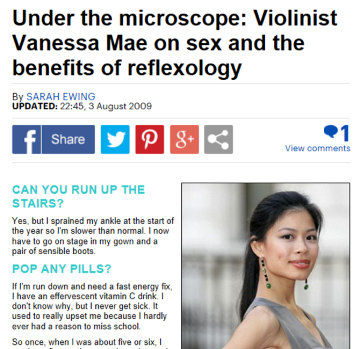 vanessa mae on the benefits of reflexology